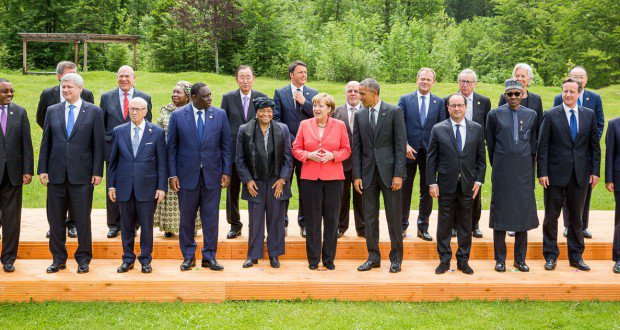 Leaders of the G7 Countries, their Partners and 2015 Class of Darling Country Leaders, including President Buhari of Nigeria